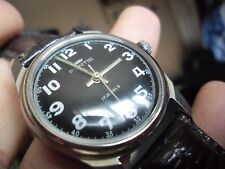 super vintage gents fortis military style 17 jewels hand wind watch