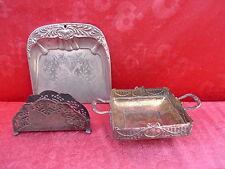 3 antiguo pieza de adorno__pala, Servittenhalter, Cuenco__metal plateado__