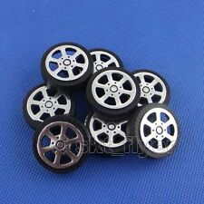 8pcs 30*9*1.9mm Plastic Car Tire Toy Wheels Model Robot Part for DIY