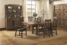 Formal Rustic Cognac Finish 7Piece Dining Set Table Chairs Leaf Dining Room Home