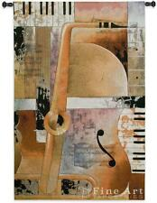 "Jazz Medley II Music Tapestry Wall Hanging Modern Design 53""x36"""