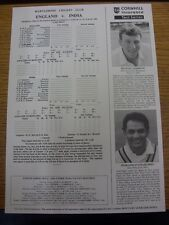 20/06/1996 Cricket Scorecard: England v India [At Marylebone Cricket Club] 5 Day