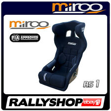 FIA APPROVED Mirco RS1 Racing Seat BLACK velour, Head Restraint  Fibergalss