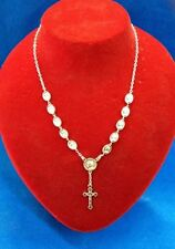 St John Paul II & Divine Mercy Necklace Rosary -Blessed by Pope upon request-