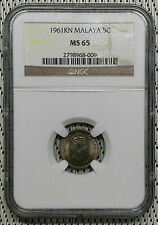 *NGC MS65* 1961KN - Malaya - 5 Cents Elizabeth II #CAFE