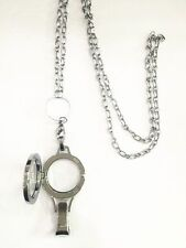 1pcs plain  lanyard Living Floating Memory Locket with Necklace Pendant Chains