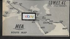 MEA MIDDLE EAST AIRLINES 1962 SUPER VISCOUNTS & COMET 4C JETS ROUTE MAP AD