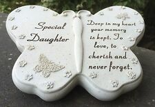 Butterfly Design Grave Ornament For Special Daughter Funeral Memorial Graveside