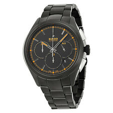 Rado Hyperchrome Automatic Chronograph Black Dial Black Ceramic Mens Watch