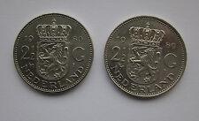 Netherlands 2 1/2 gulden x 2 - 1980