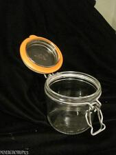 LE PARFAIT GLASS HINGED CANNING JAR~.350 L~LITER~MADE IN FRANCE~EUC