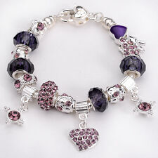 wholesale European Murano Glass Bead 925 sterling silver Charm Bracelet XPB130
