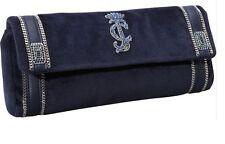 NEW! JUICY COUTURE Blue Plush Velour Suze Chain Clutch Handbag $148