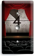 TV ROOM HOME MOVIE THEATER BIG SCREEN LIGHT DIMMER VIDEO CABLE WALL PLATE COVER
