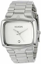 Nixon Player White Dial Stainless Steel Quartz Gents Watch A140-100