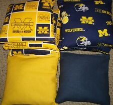 SET OF 8 UNIVERSITY OF MICHIGAN WOLVERINES CORNHOLE BAGS