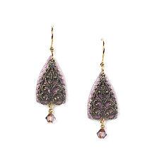 Jody Coyote Earrings JC0651 new Willow QN408-01 gold dangle purple pink