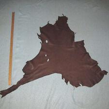 Thin 2 oz Chocolate Brown Grain Deerskin Leather Hide Deer Skin