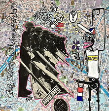"eR.16 ""nettoyage au karcher"" street art brut collage obey basquiat warhol paris)"