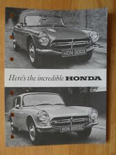 Honda S800 orig 1967 1968 uk marketing sales brochure-coupe roadster convertible