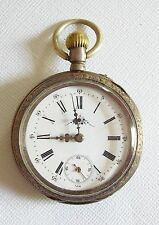Antique 800 Silver Pocket Watch 10J