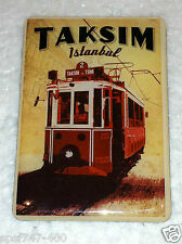 Taksim Trolley Magnet: Full Color, High Gloss Istanbul, Turkey collectible displ
