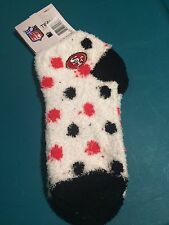 San Francisco 49ers NFL Unisex Fuzzy Slipper Socks - Size Medium, New With Tags
