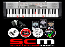 LIGHT UP CASIO LK130 DIGITAL PIANO KEYBOARD LK-130 + ADAPTOR & BONUS 3 DVD SET