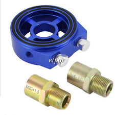 Turbo Feed Line M18 / M20x1.5 Oil Filter Sandwich Plate Cooler Adapter Blue New