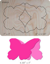 Butterfly Card Wooden Die Cutter Steel Rule Die Fits Big shot Pro, Sizzix New