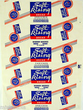 Vintage bread wrapper SALT RISING 1937 Disbrow Morenci Defiance new old stock
