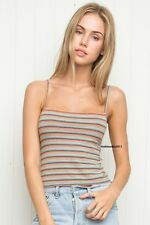 Sold Out! brandy melville stretchy crop rainbow striped faye tank top NWT S/M