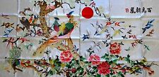 "[#25] Handwoven Silk Chinese Embroidery - 100 Birds (29"" x 60"")"