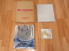 "Madonna photo book ""sex"" Japan with CD, foil, comic, box case 1st ed 2nd print"