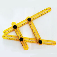 1x Four-Sided Folding Measuring Tool Multi-Angle Template Scale Ruler Mechanism