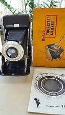 Vintage KODAK TOURIST II Folding Camera w/KODET Lens, OEM Box and Manual