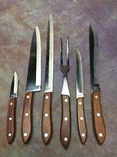 XB Lot Vtg INTERPUR Stainless Steel Paring Butcher Carving Knife Knives JAPAN