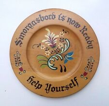 Smorgasbord Is Now Ready Help Yourself Hanging Wall Folk Art Wooden Plate Sign