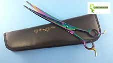 "Pet Dog Grooming Scissors Shears 10"" Professional Japanese Stainless CURVED"
