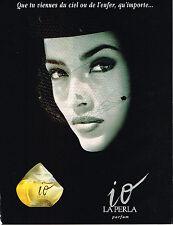 PUBLICITE ADVERTISING 025  1996  LA PERLA  parfum femme IO