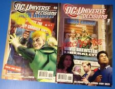 Comic LOT OF 2 NOV 2008 DC UNIVERSE DECISIONS 1 2 Batman Superman Wonder Woman *