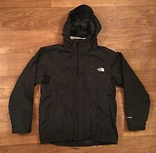 Men's NORTH FACE SKI COAT Hyvent BLACK 2-in-1 Fleece LINED Sz L