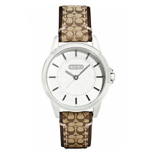 New Coach Women 31mm Case Classic Signature Strap Watch 14501525