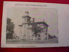 OLD BLACK & WHITE - GREETINGS FROM GRAND RAPIDS, WIS - THE HOWE HIGH SCHOOL