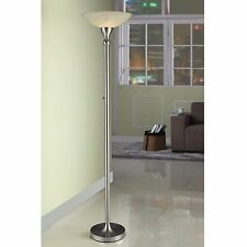 71-inch  Torchiere Floor Lamp with Hand-painted Alabaster Glass shade