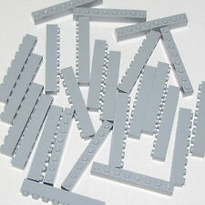 Lego Lot of 25 New Light Bluish Gray Bricks 1 x 8 Dot Building Blocks