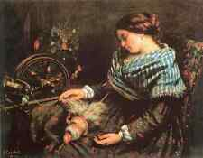 Metal Sign Gustave Courbet The Sleeping Spinner 5 A4 12x8 Aluminium