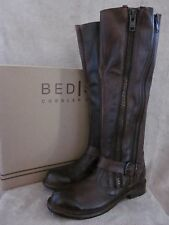 BED STU Tango Teak Rustic Buckle Leather Zip Riding Boots Shoes US 8 EU 38 NWB
