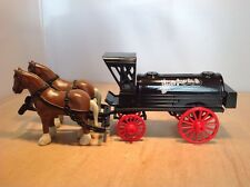PACIFIC COAST OIL CO DIE CAST HORSE & WAGON TANKER COIN BANK by ERTL