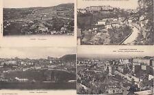 Lot 4 cartes postales anciennes THIERS vue générale